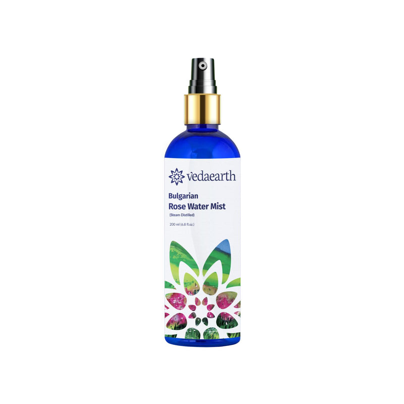 Shop Rose Water Facial Mist from Veda Earth on SublimeLife.in. Best for soothing and strengthening.