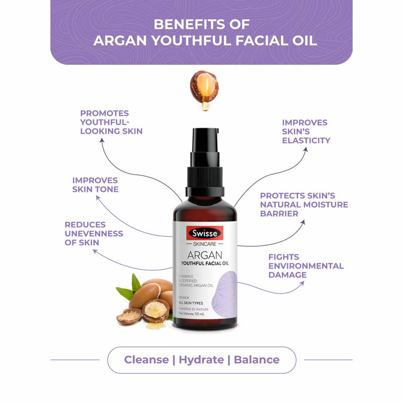 Shop Organic Argan Oil from Swisse on SublimeLife.in. Best for promoting healthy and youthful looking skin.