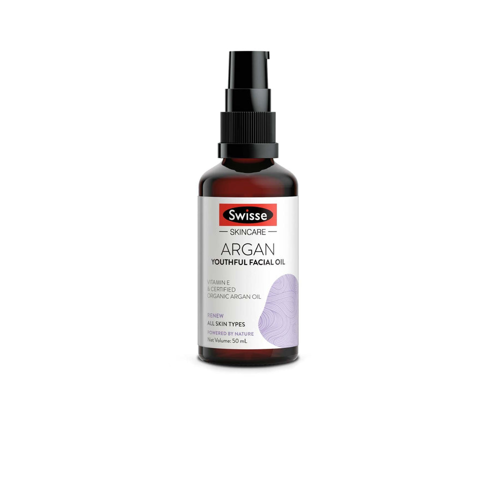 This is an image of Swisse Argan Youthful Facial Oil on www.sublimelife.in