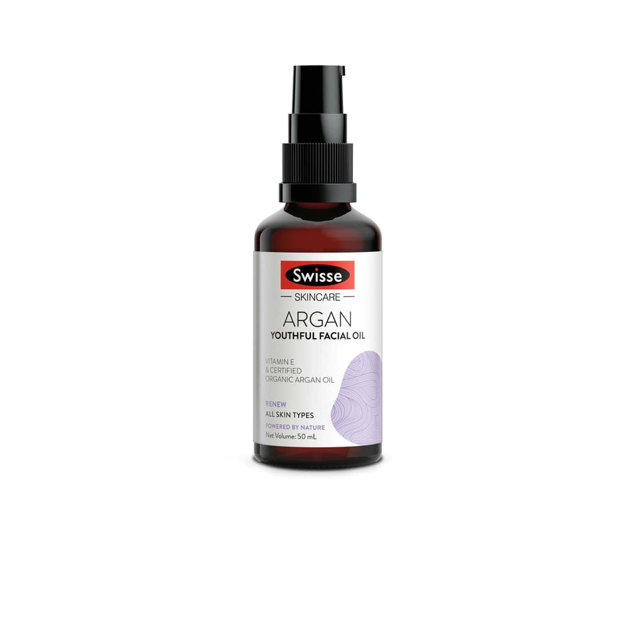 this is an image of the swisse youthful argan oil on www.sublimelife.in