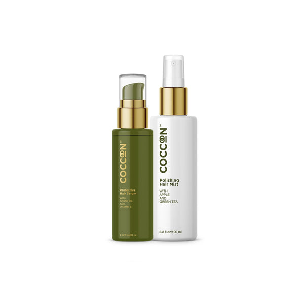 This is an image of Safe Styling Combo from Coccoon on SublimeLife.in. This combo is the best salon style pampering your hair deserves.