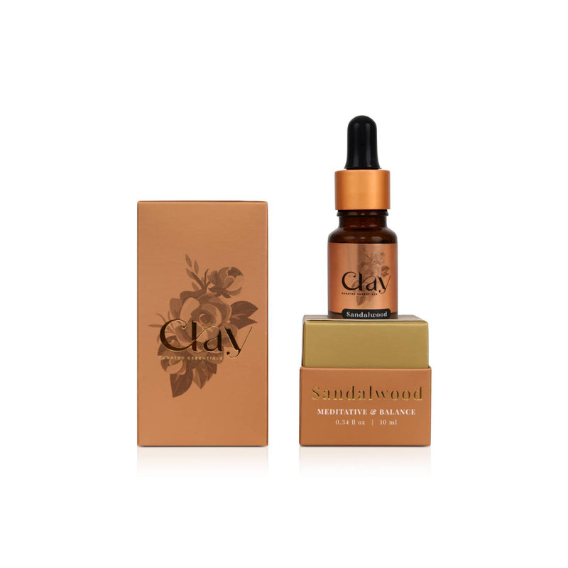 Shop Sandalwood Essential Oil from Clay on SublimeLife.in. Best for balance.