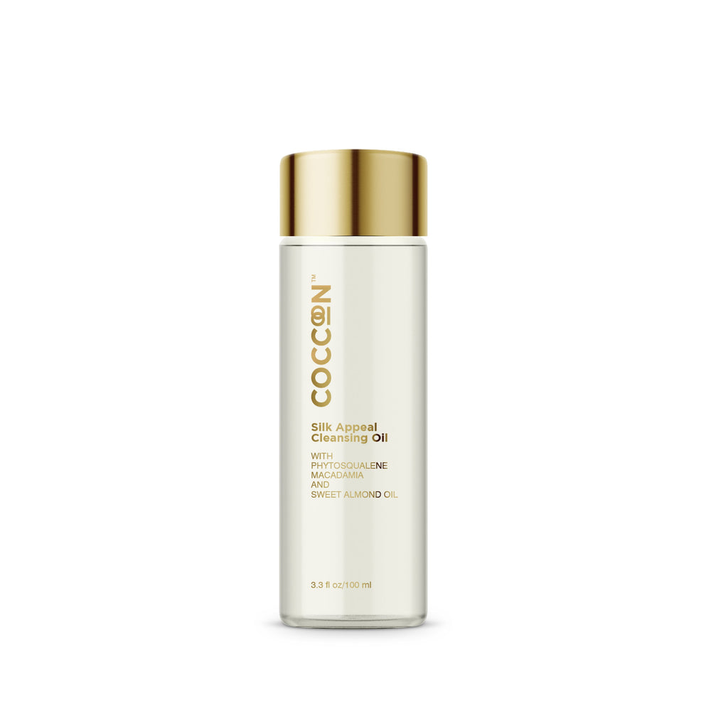 This is an image of Coccoon Silk Appeal Cleansing Oil on www.sublimelife.in
