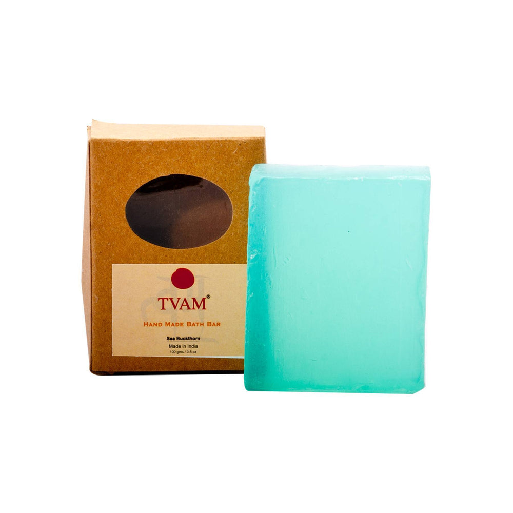 This is an image of Tvam Soap -sea Buckthorn - Handmade on www.sublimelife.in