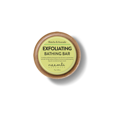 This is an image of Matcha & Avocado Exfoliating Bathing Soap Bar from Neemli Naturals on SublimeLife.in. A soothing exfoliating bathing soap to protect skin from acne.