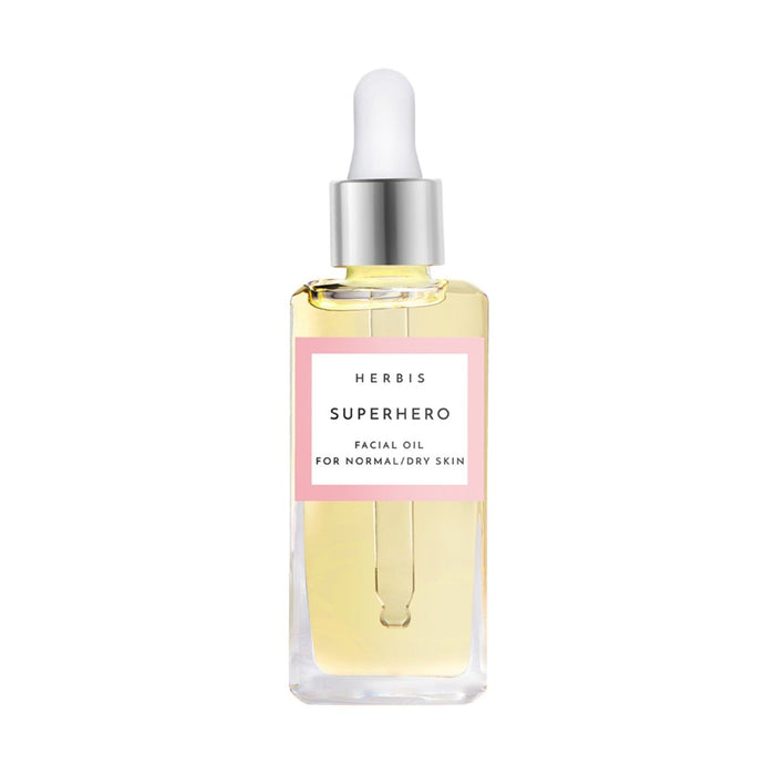 This is an image of Superhero Facial oil from Herbis Botanicals on www.sublimelife.in.