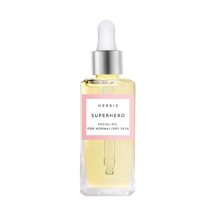 This is an image of Superhero sensorial face oil from Herbis Botanicals on www.sublimelife.in.