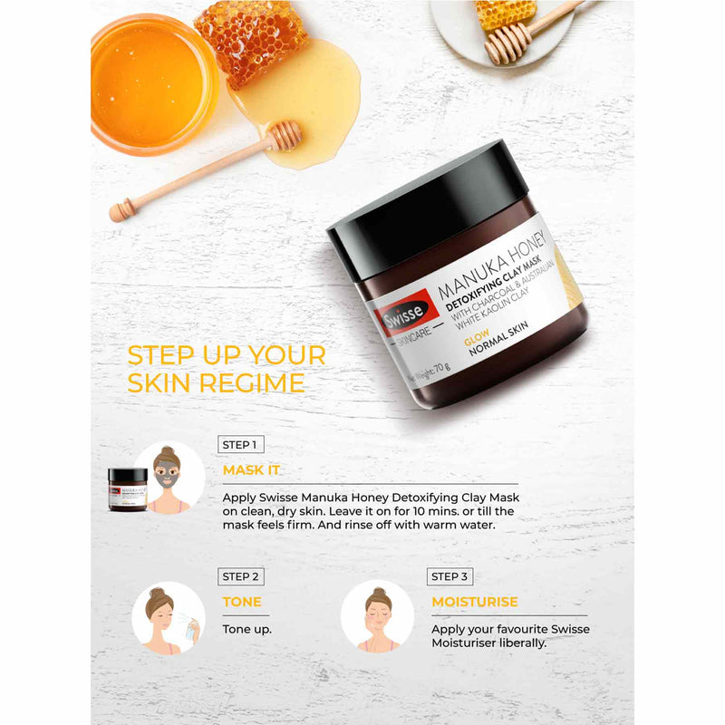 Shop Detoxifying Clay Mask from Swisse on SublimeLife.in. Best for purifying and detoxifying the skin.