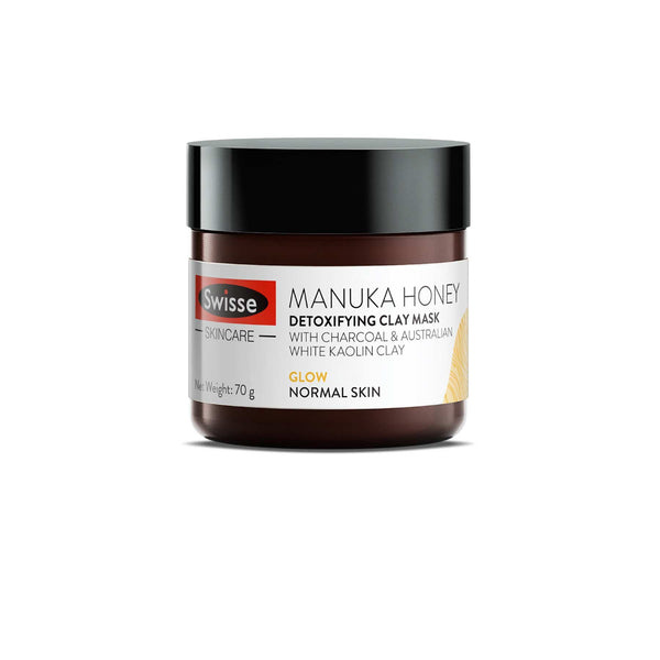 Manuka Honey Detoxifying Clay Mask for Skin Detox and Glow