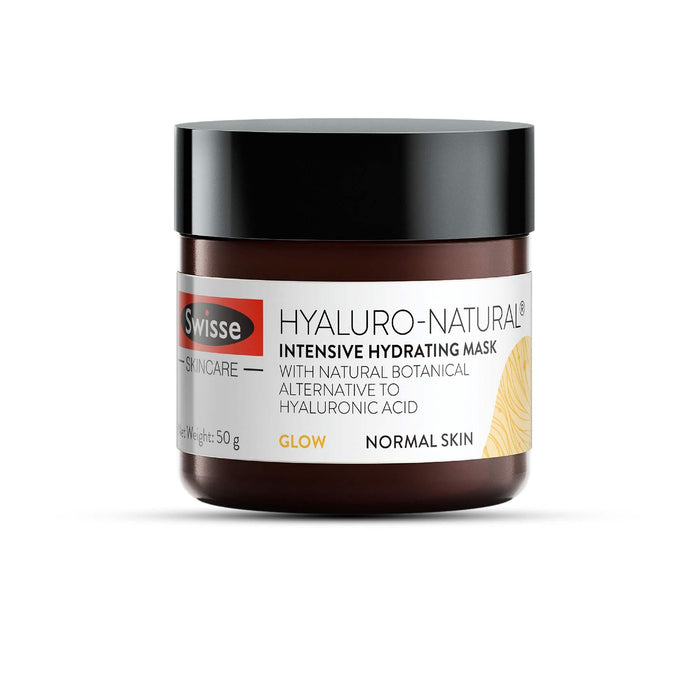 This is a product image of Intense hydrating mask with Hyaluronic acid from the brand Swisse Naturals