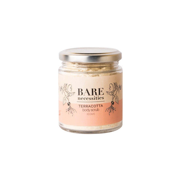 This is an image of Terracotta Body Scrub from Bare Necessities on SublimeLife.in. Helps to get flawless glowing skin.