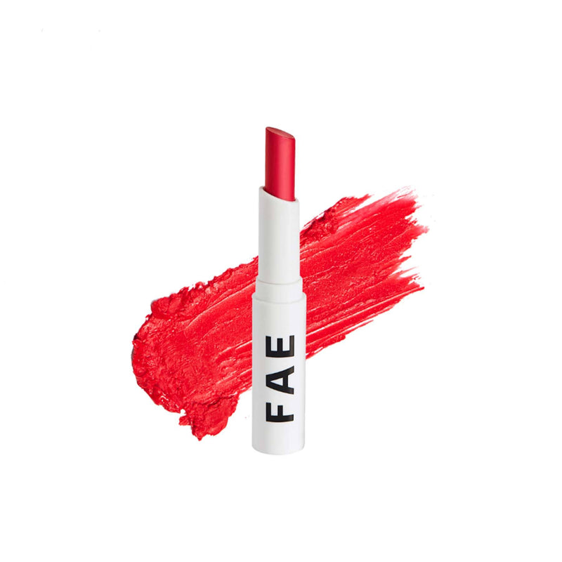 Shop Buildable Matte Lipstick- Too Much from Fae Beauty on SublimeLife.in. Best for Indian skin tones.