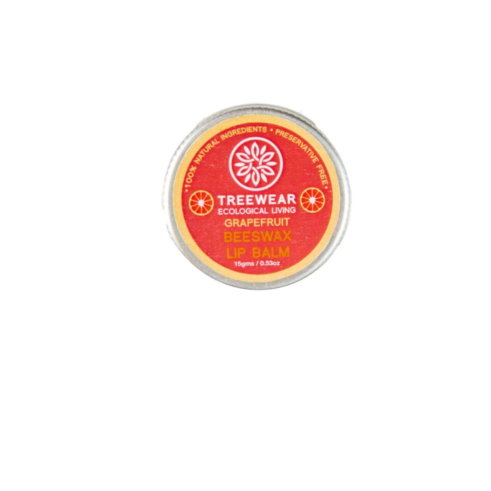 This is an image of TreeWear Beeswax Lip Balm- Grapefruit on www.sublimelife.in