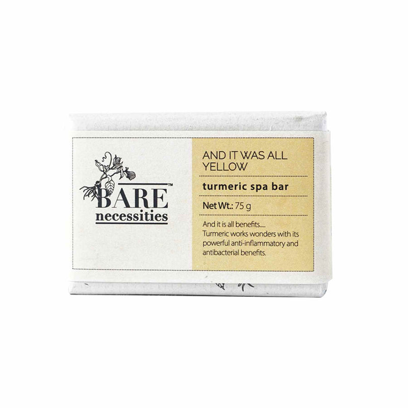 Shop Turmeric Spa Bar from Bare Necessities on SublimeLife.in. Best for premature skin aging and reduces dark marks.