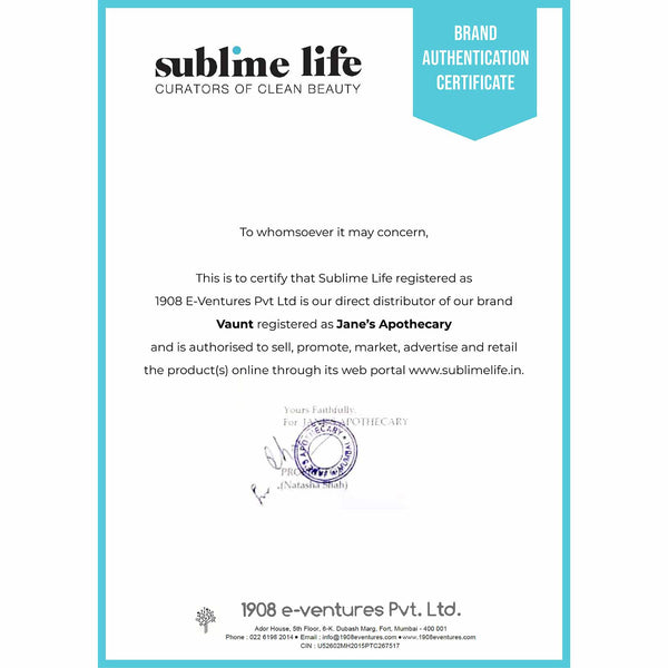 Brand Authentication Certificate-Vaunt