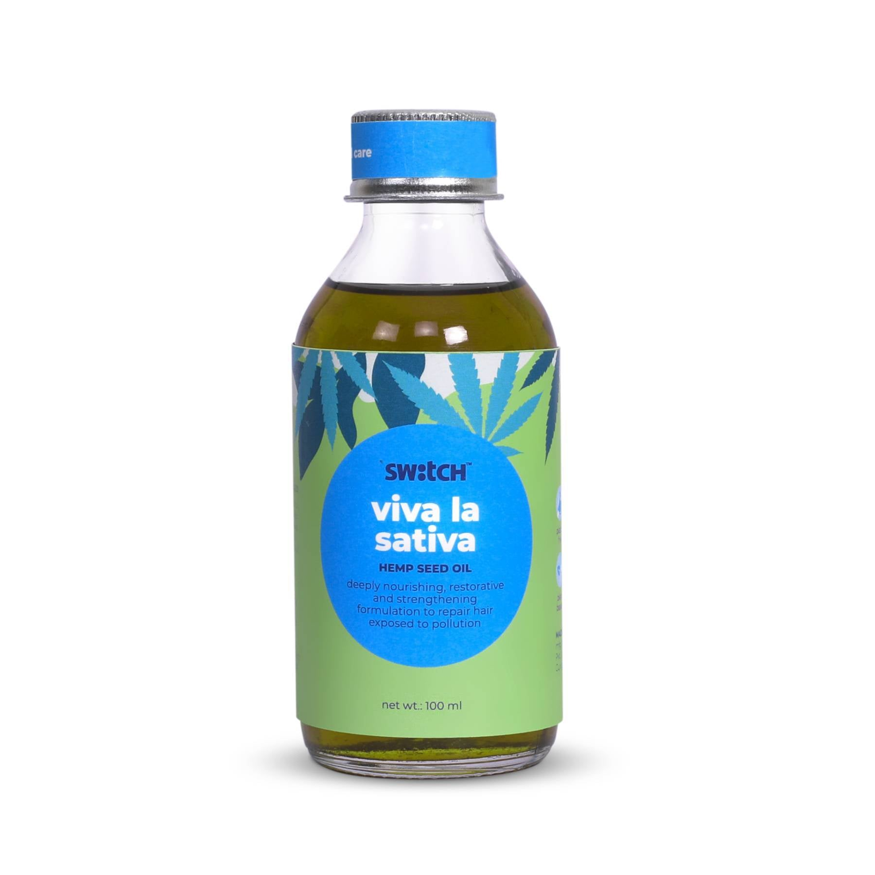This is an image of Viva La Sativa hair oil from switch fix on www.sublimelife.in