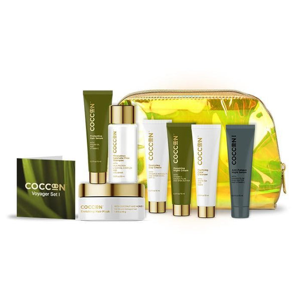 This is an image of the complete travel pack from Coccoon on SublimeLife.in. Get all your daily care essentials in this one set.