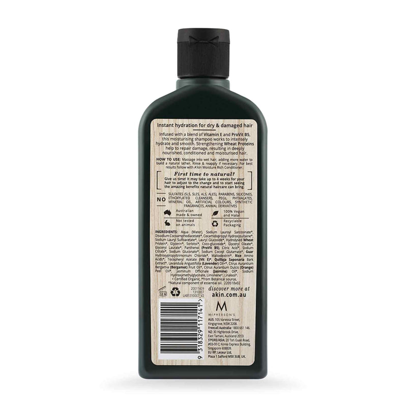 Shop Akin's Wheat Protein Moisture Rich Silicon Free Shampoo from Sublime Life.Helps in reducing hairfall.