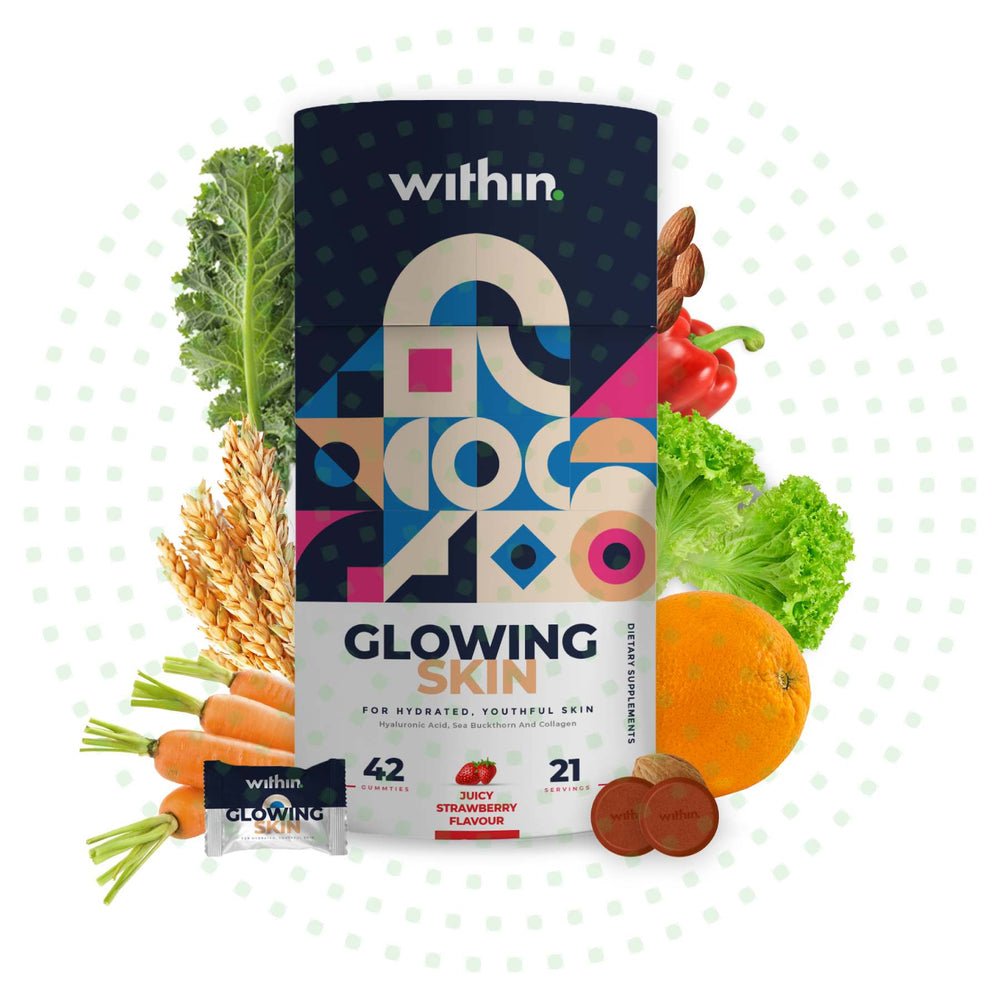 This is an image of Within Nutrition Glowing Skin Gummies on www.sublimelife.in