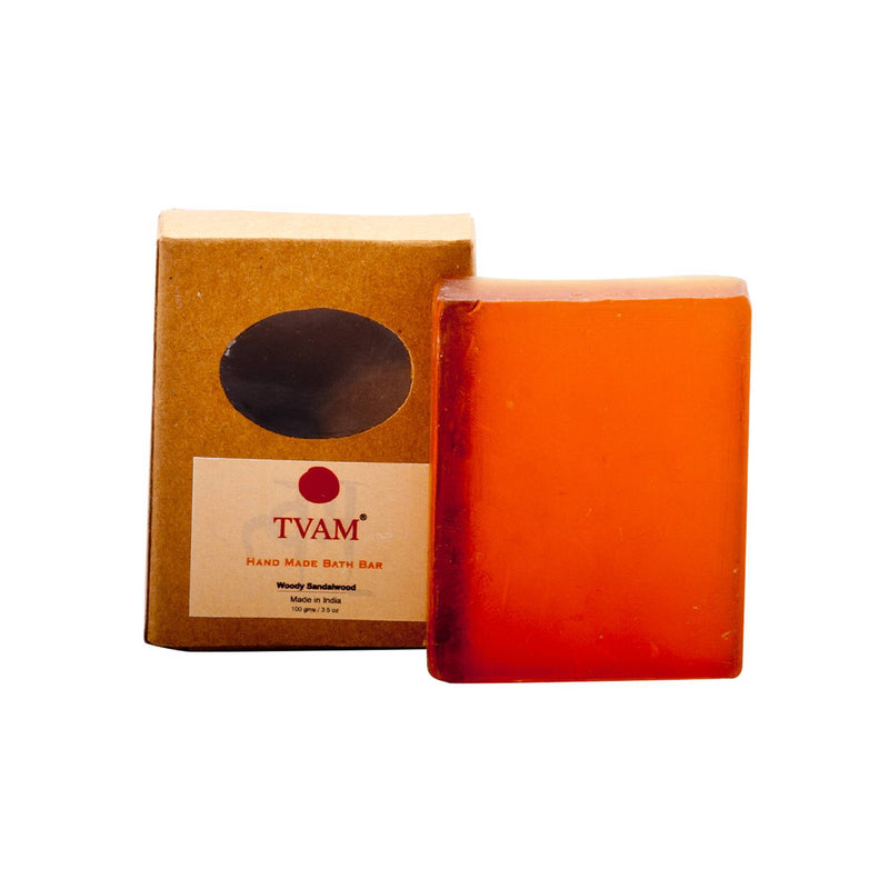 Shop Woody Sandalwood Bathing Bar from Tvam on SublimeLife.in. Best for acting as a natural moisturiser for skin.
