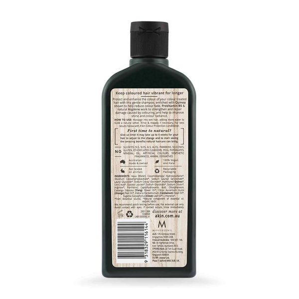 Shop Akin's Ylang Ylang & Quinoa Colour Protection Silicon Free Shampoo from Sublime Life. Suitable for coloured hair.