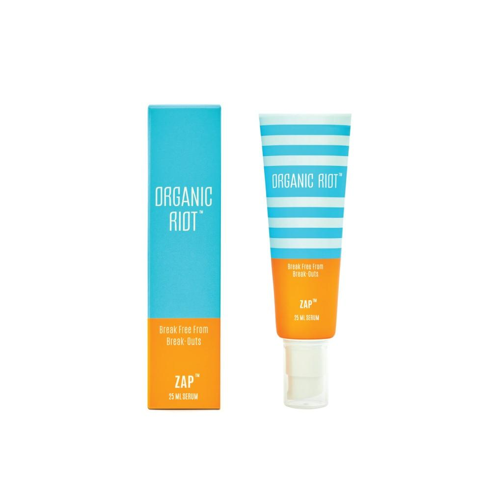 This is a image of Organic Riot Zap - Anti Acne Serum on www.sublimelife.in