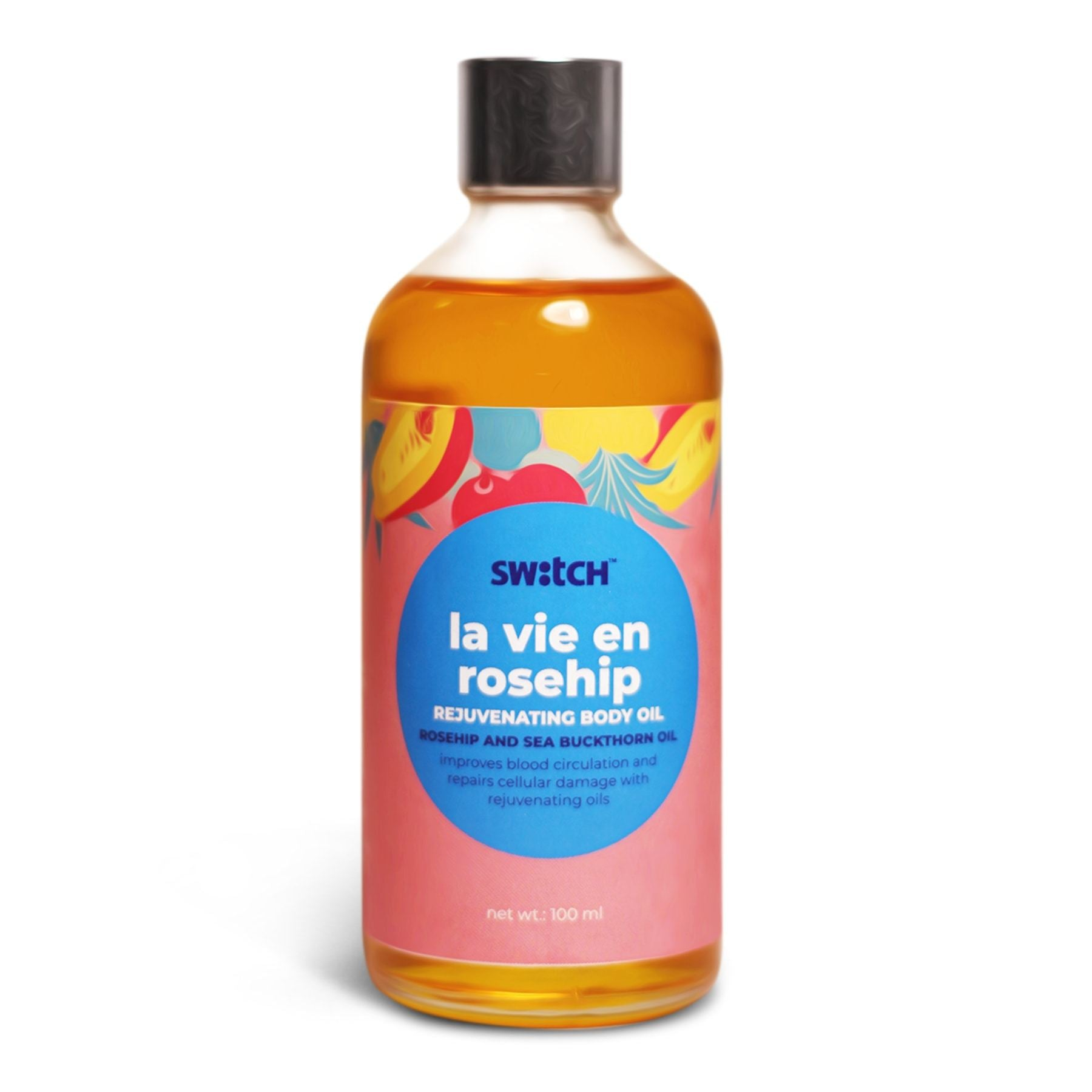 This is an image of La Vie En Rosehip Massage Oil from Switch Fix on www.sublimelife.in
