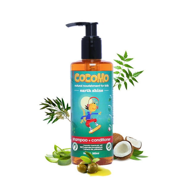 Shop Earth Shine Shampoo & Conditioner from Cocomo on SublimeLife.in. Best for cleansing all the dirt from your child's hair.