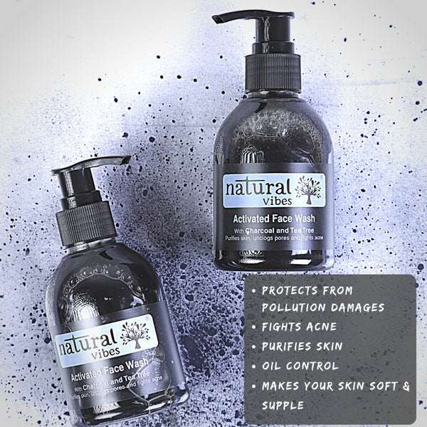 Ayurvedic Tea Tree & Activated Charcoal Face Wash