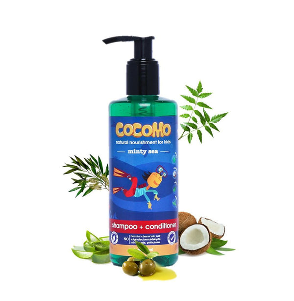 Shop Minty Sea Shampoo & Conditioner from Cocomo on SublimeLife.in. Best for cleansing and soothing the child's hair.