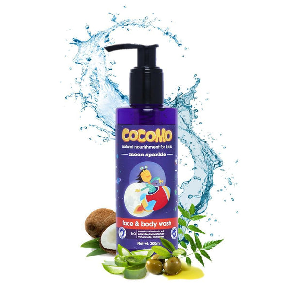 Moon Sparkle Face & Body Wash 200ml (Age: 4 & up)