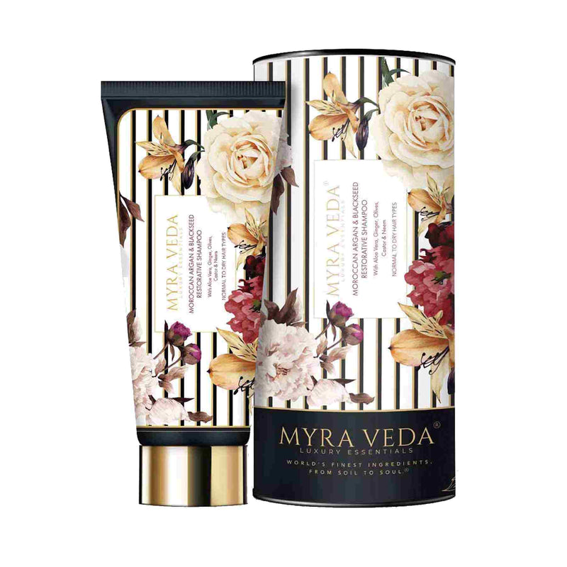 Shop Restorative Shampoo from Myra Veda on SublimeLife.in. Best for dull, dry and damaged hair and scalp.