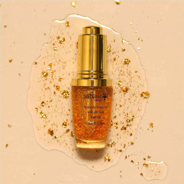 Ayurvedic Beauty Oil with 24K Gold Flakes