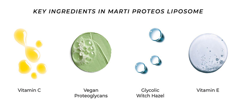 Shop Proteos Liposome 10 Ampoules from Martiderm on SublimeLife.in. Best for closing pores and toning skin.