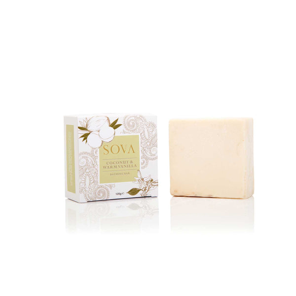 Shop Coconut & Warm Vanilla Bathing Bar from Sova on SublimeLife.in. Best for nourishing and nurturing your skin.