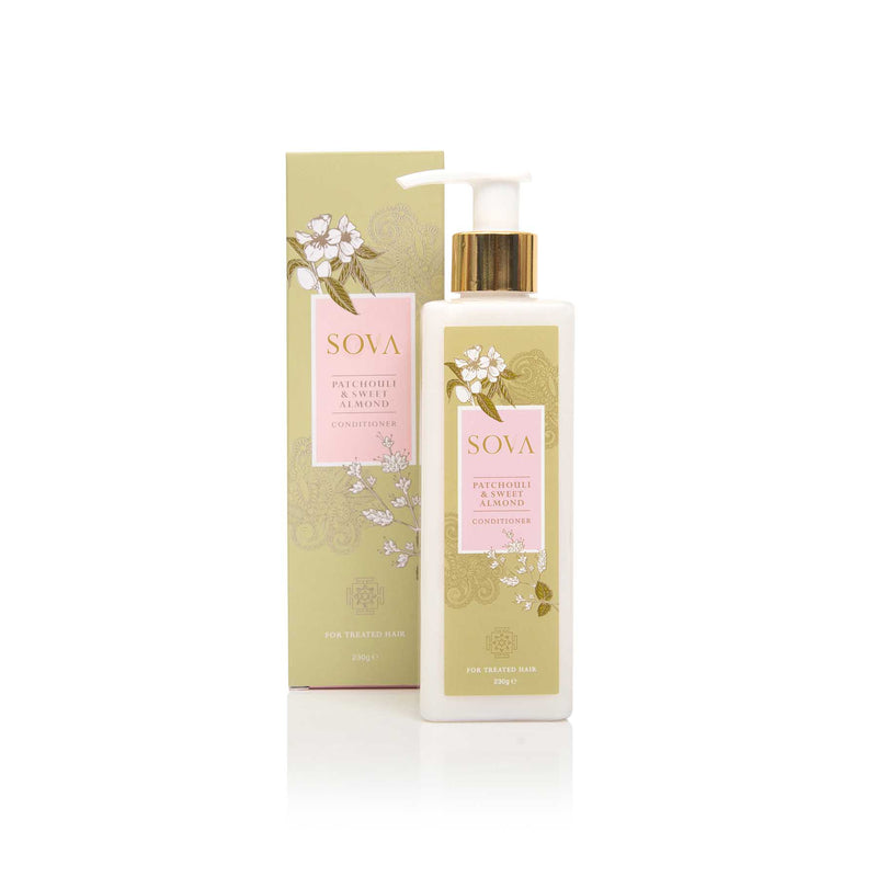 Shop Patchouli & Sweet Almond Conditioner from Sova on SublimeLife.in. Best for nourishing and soothing your treated hair.