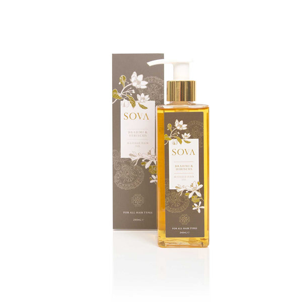 Sova Brahmi & Hibiscus Hair Massage  Oil - Sublime Life