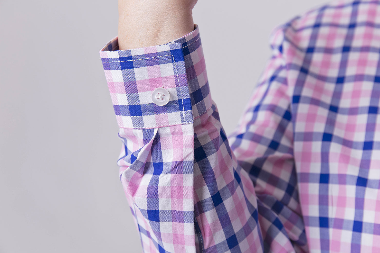 Pink & Blue Check Easy Close Shirt