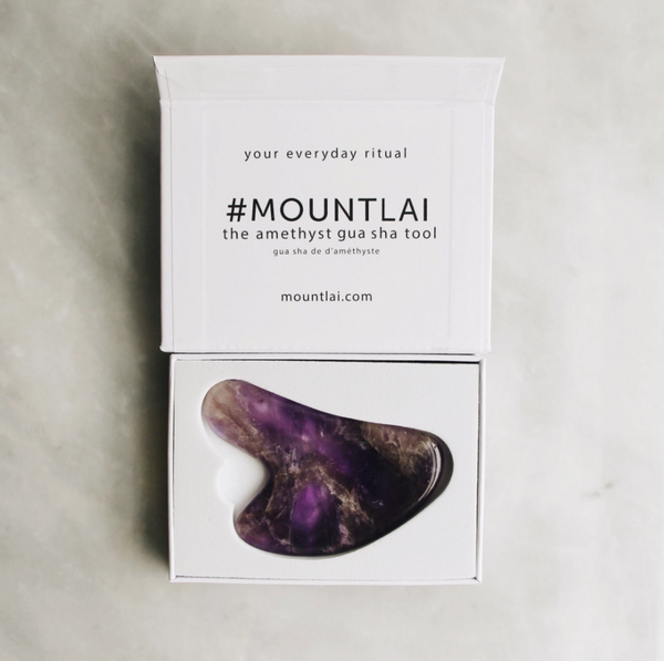 The Amethyst Gua Sha Facial Lifting Tool