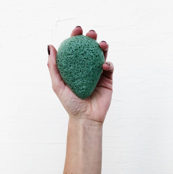 KONJAC FACIAL SPONGE - GREEN CLAY
