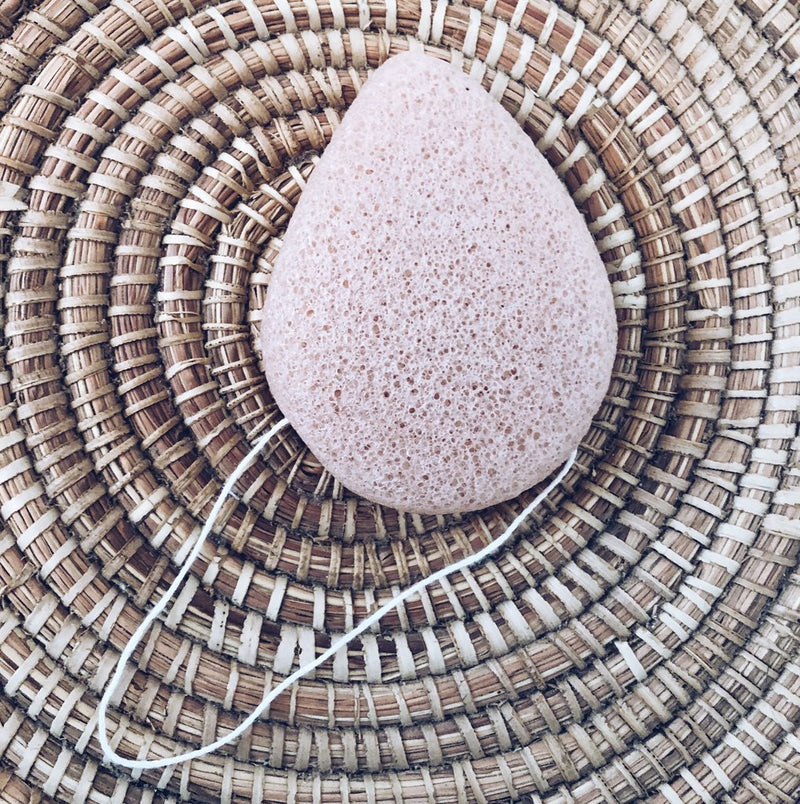 KONJAC FACIAL SPONGE - ROSE FLOWER