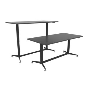 Løfte Black Single Workstation