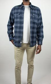Imperial Long Sleeve Plaid Button Up Flannel Shirt
