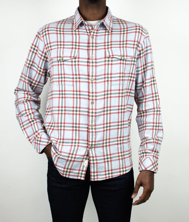 Diego Long Sleeve Plaid Button Up Flannel Shirt
