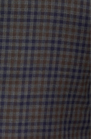 Brown-Grey Plaid & Check Sport Coat