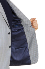 Black Mini Check Plaid Sport Coat