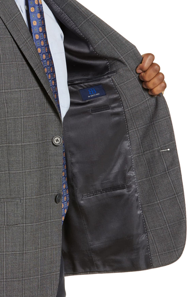 Charcoal Window Pane Sport Coat