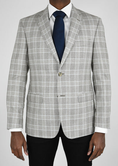 Tan Plaid Silk/Wool Sport Coat