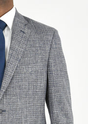 Grey/Red Check Cotton/Wool Sport Coat