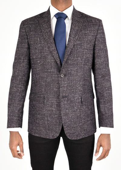Bordeaux/White Wool Sport Coat